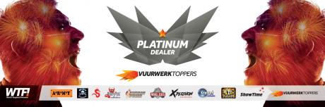 Spandoek Vuurwerktoppers platinum dealer