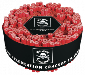 Black celebration cracker   10.000