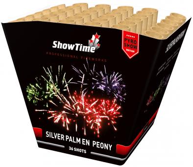 Silver palm & peony