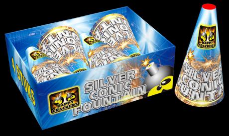Silver conic fountain